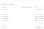 Pobuca Loyalty screenshot: View all active contacts/customers