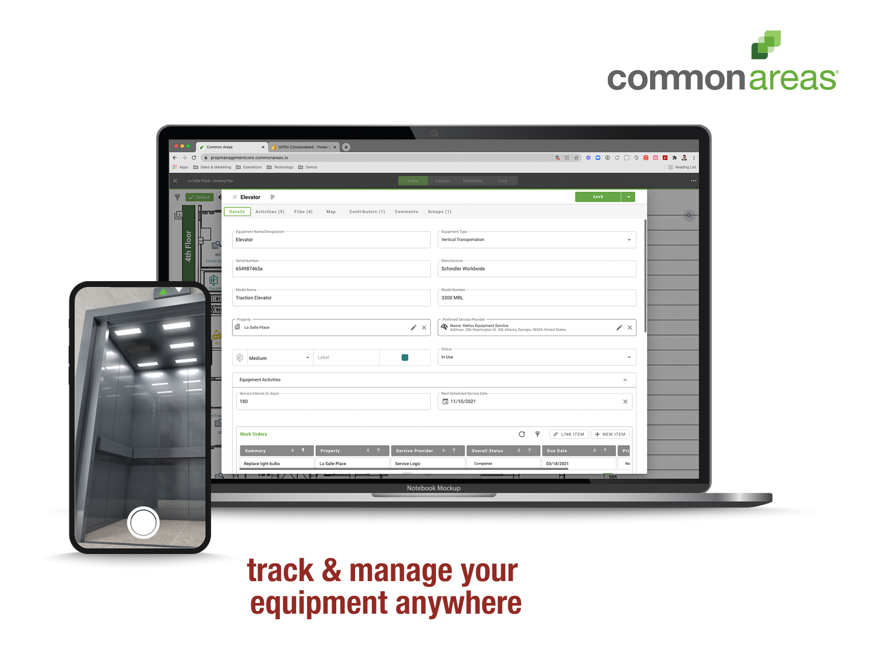 Access all of your equipment information in one place, right at your fingertips. Streamline your maintenance processes and keep track of everything related to your properties including work orders, inspections, equipment and more.