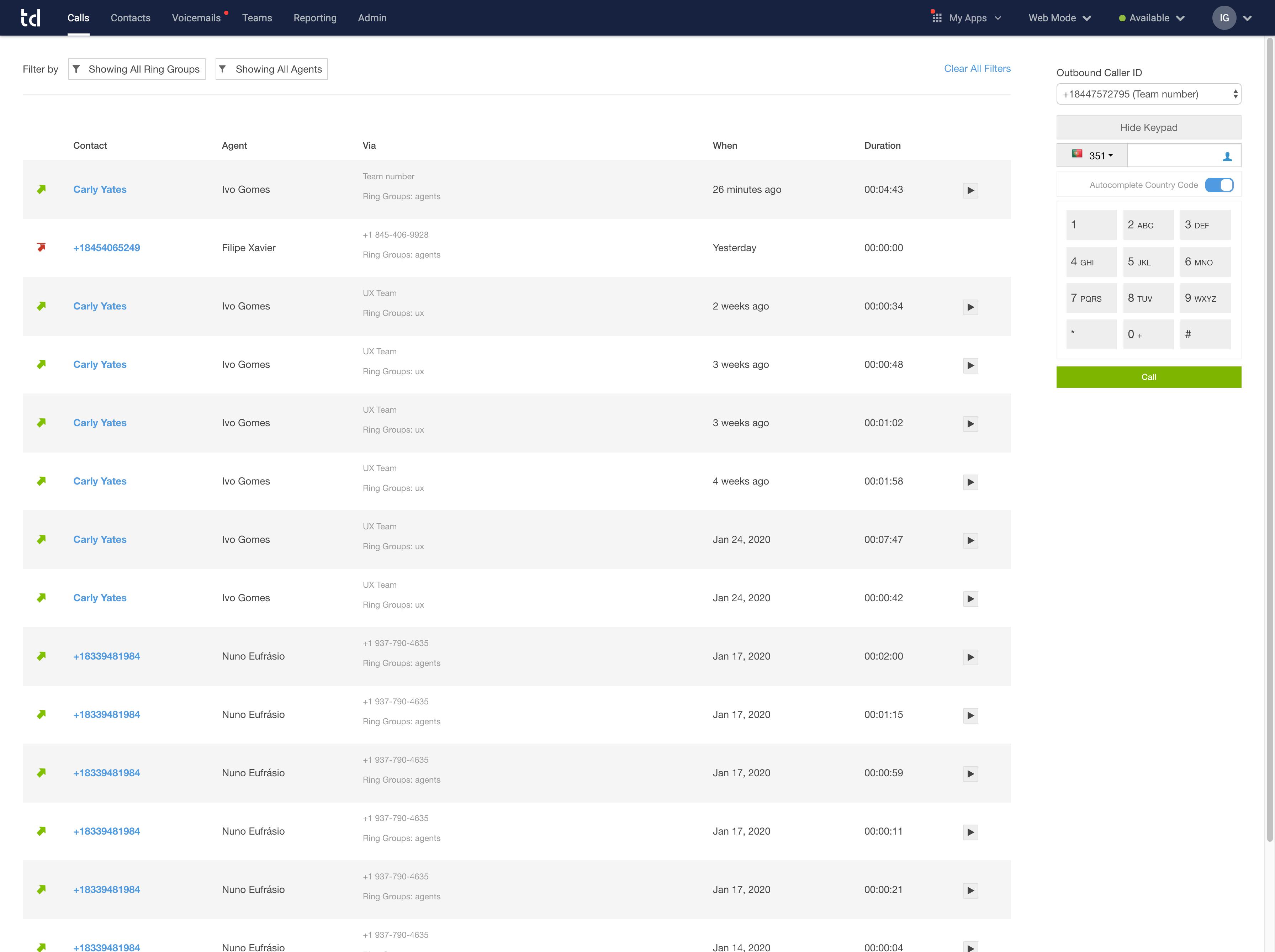 Talkdesk Software - Talkdesk Call Record