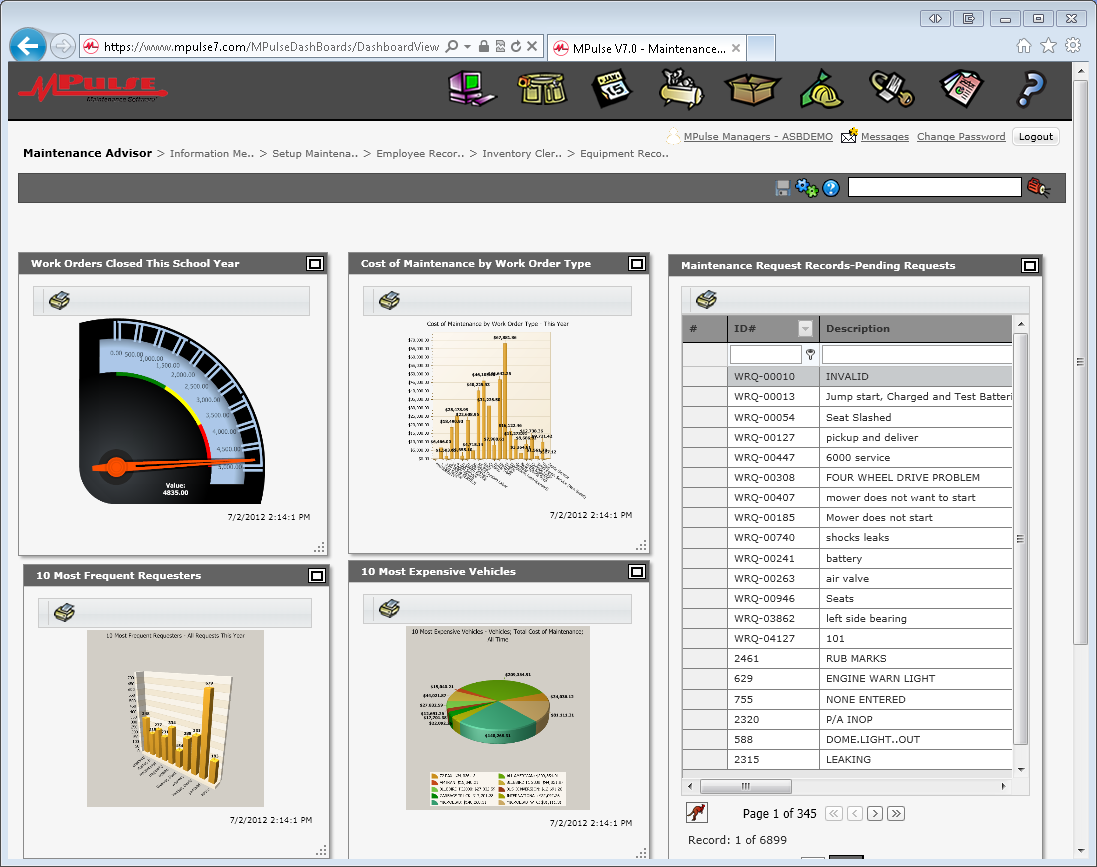 MPulse Software - Maintenance advisor