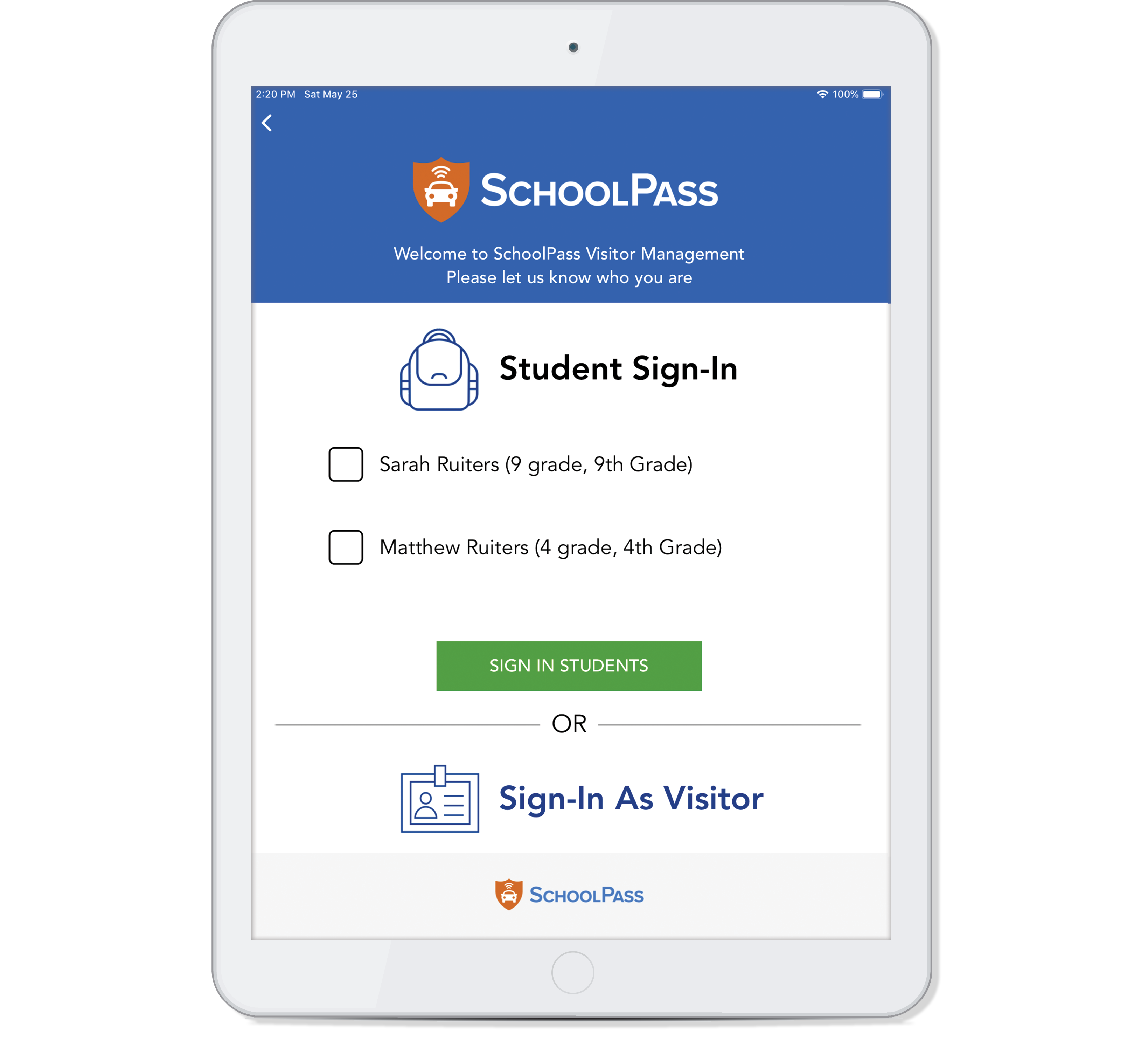 Student Sign-in