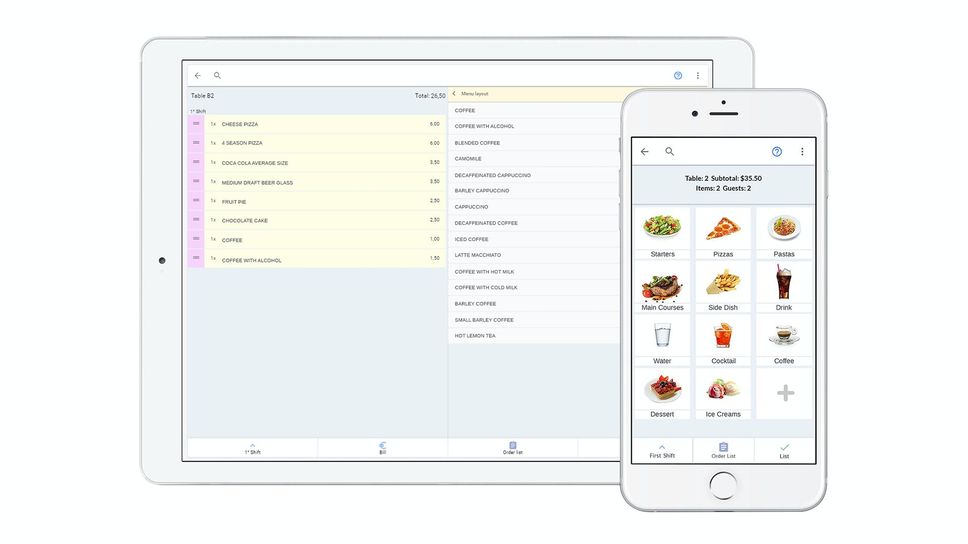 Suite 4 Software - Table ordering