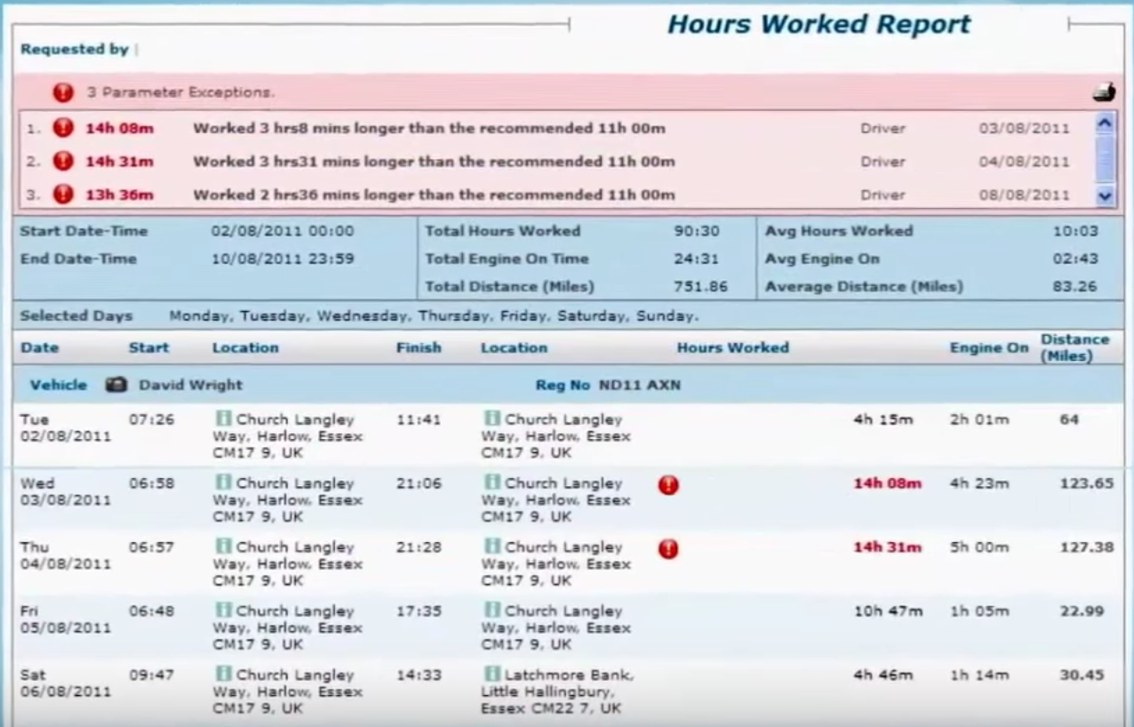 Preview or download hours worked reports