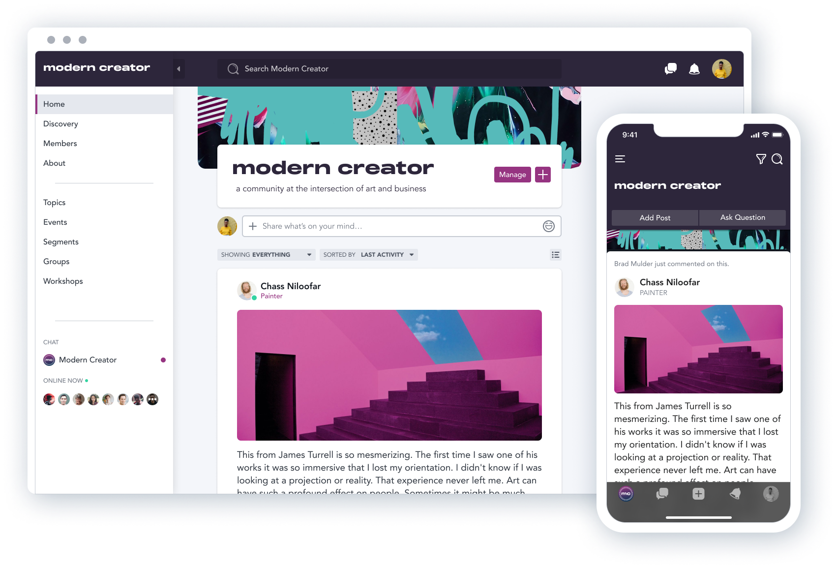 Mighty Networks Software - Create a community you own on web and mobile with a familiar and easy to use personalized activity feed for your members. You can add rich content and embeds and it's easy to navigate for members.