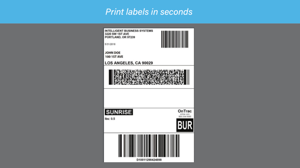 DesktopShipper screenshot: DesktopShipper label printing tool