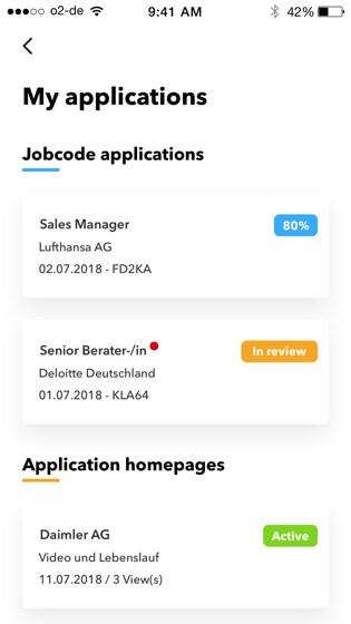 Talentcube job applications
