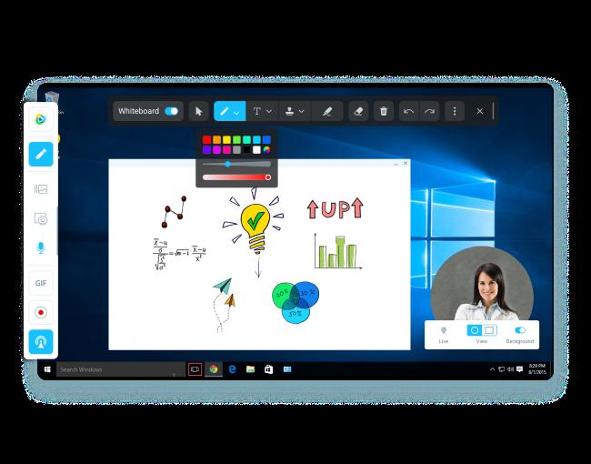 ManyCam Software - ManyCam whiteboard