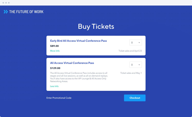 Virtual Event Ticketing