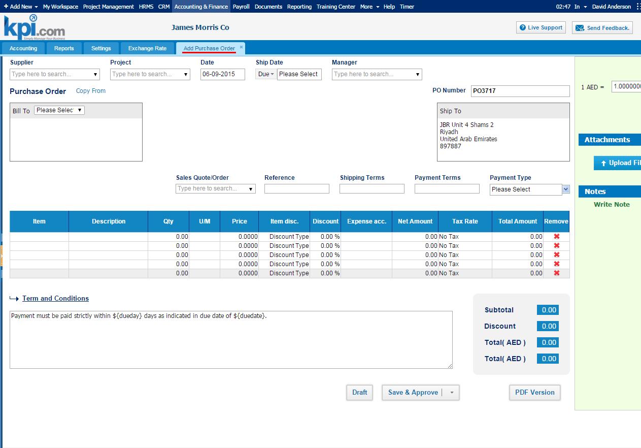 kpi.com Accounts Software - Purchase orders %>