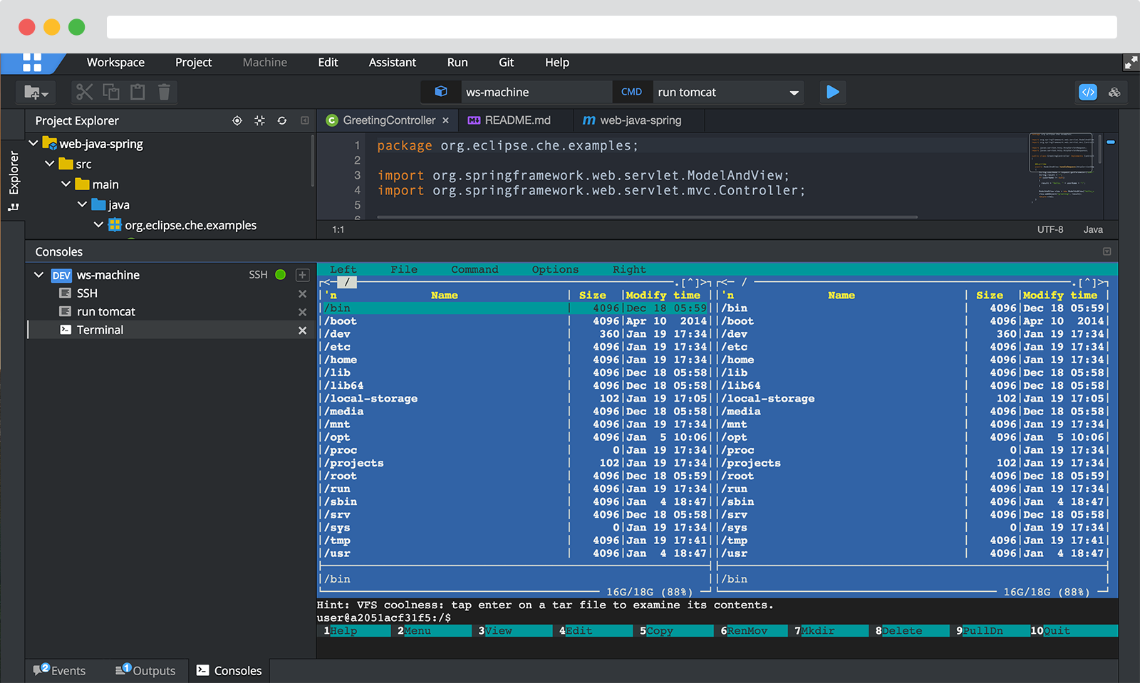 Use your desktop IDE over SSH - get all the benefits of a portable, shareable workspace without having to change your IDE.