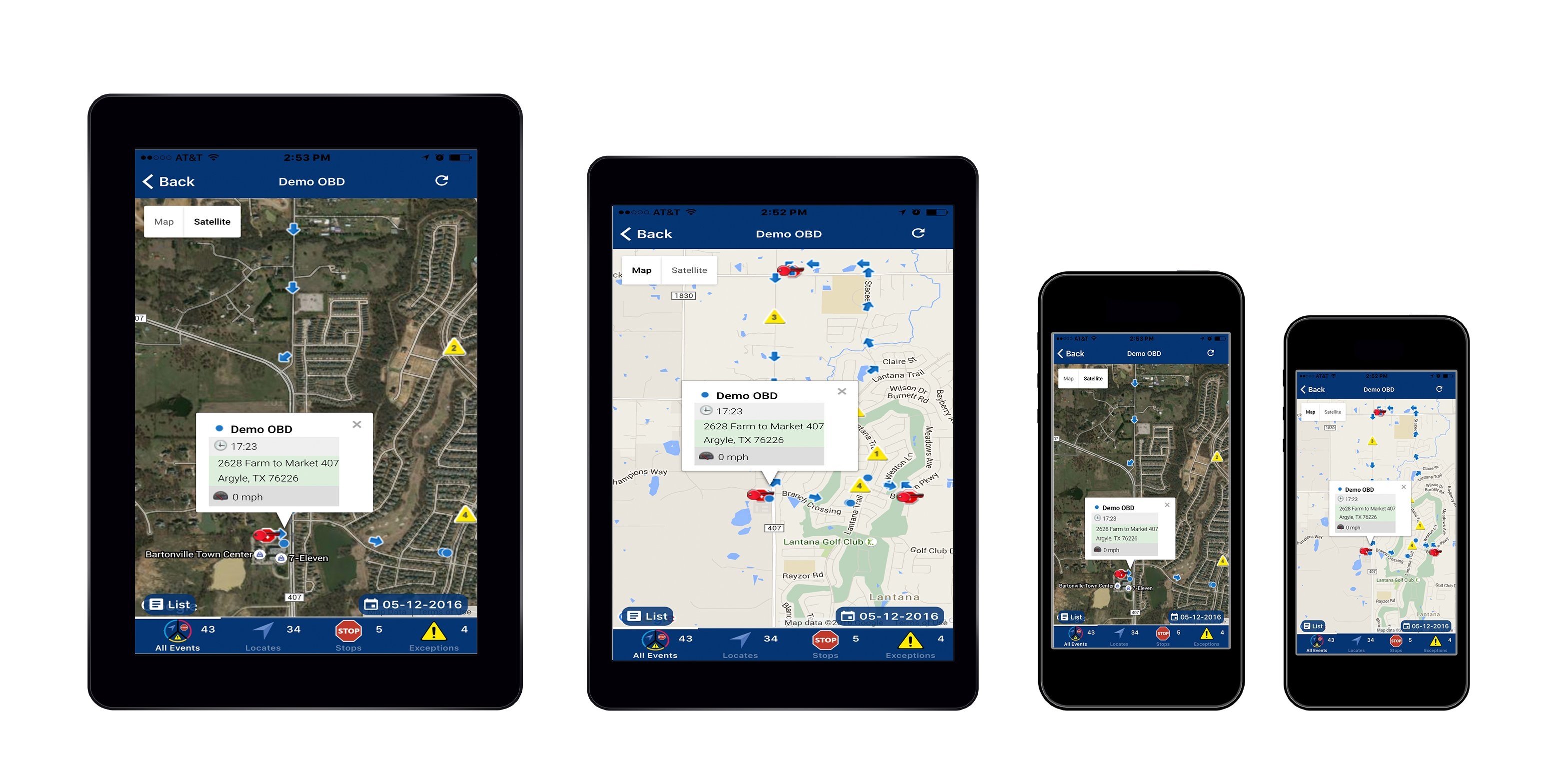 Access Rhino Fleet Tracking from any device using the iOS and android apps