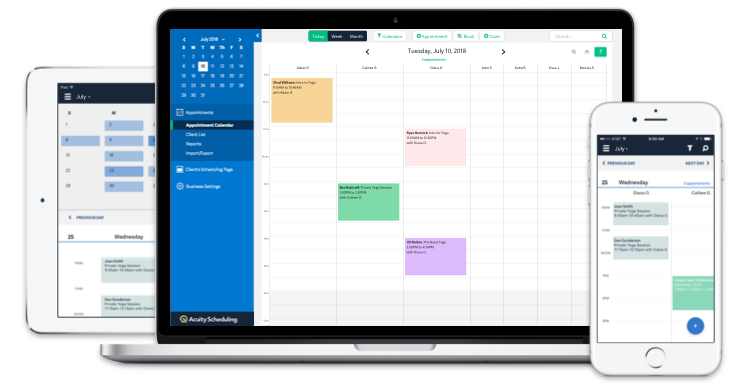 Access Acuity Scheduling across multiple devices