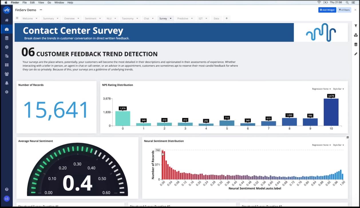 Stratifyd Software - Stratifyd contact center survey