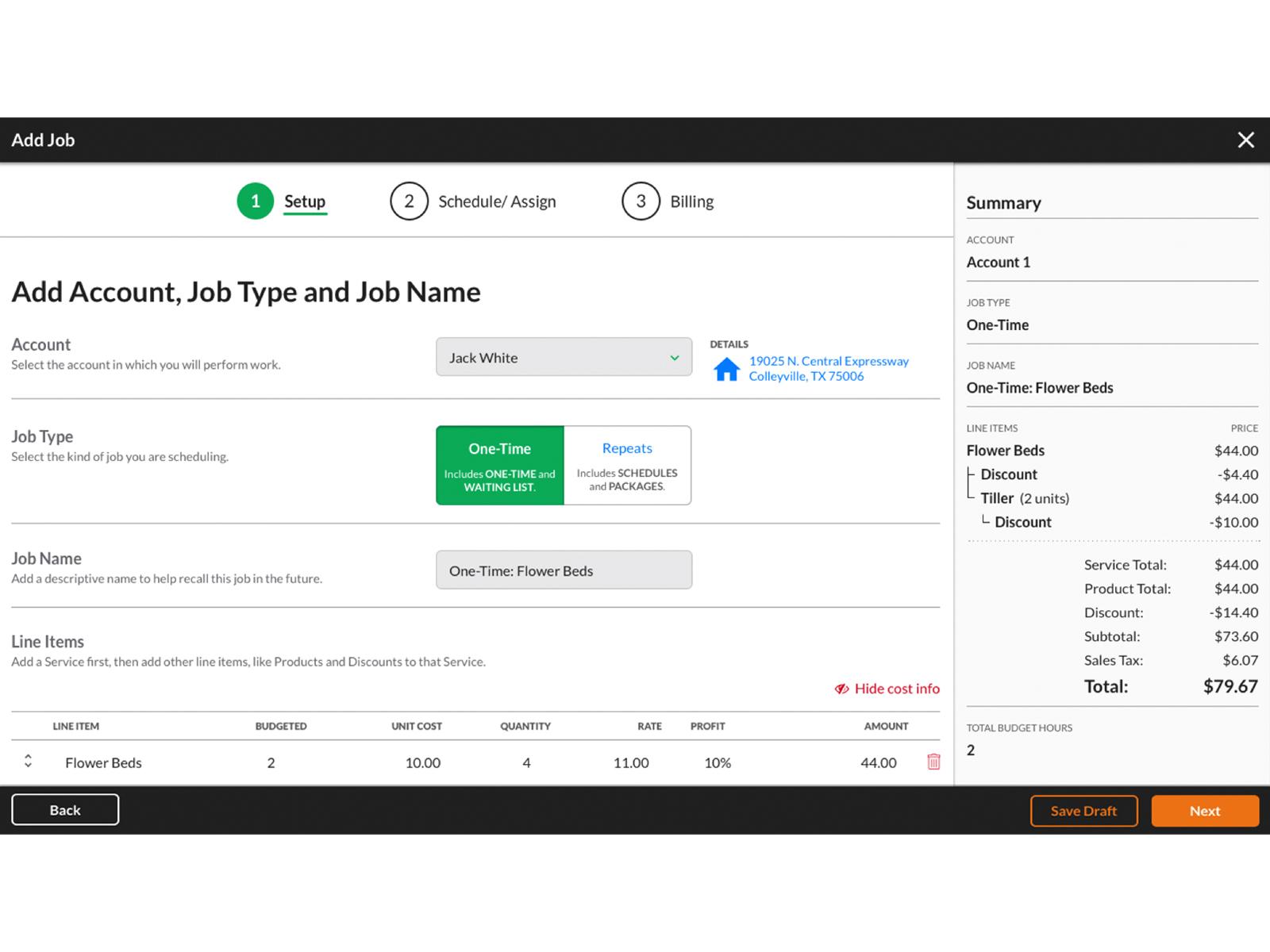 Service Autopilot easily add jobs