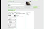 Parsley screenshot: Parsley nutritional analysis screenshot