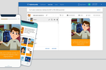 TalentCards screenshot: TalentCards Admin View and Mobile View