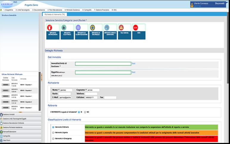 GeoMap FMS corrective maintenance management