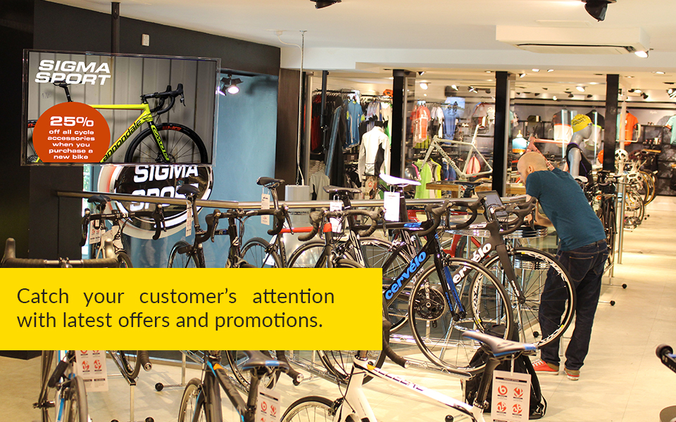 Commercial business users and retailers can deploy the solution to attract customers' attention and display in-store offers