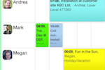 Schedule it Screenshot: Employees, clients, equipment, and other activities can be scheduled in Schedule It
