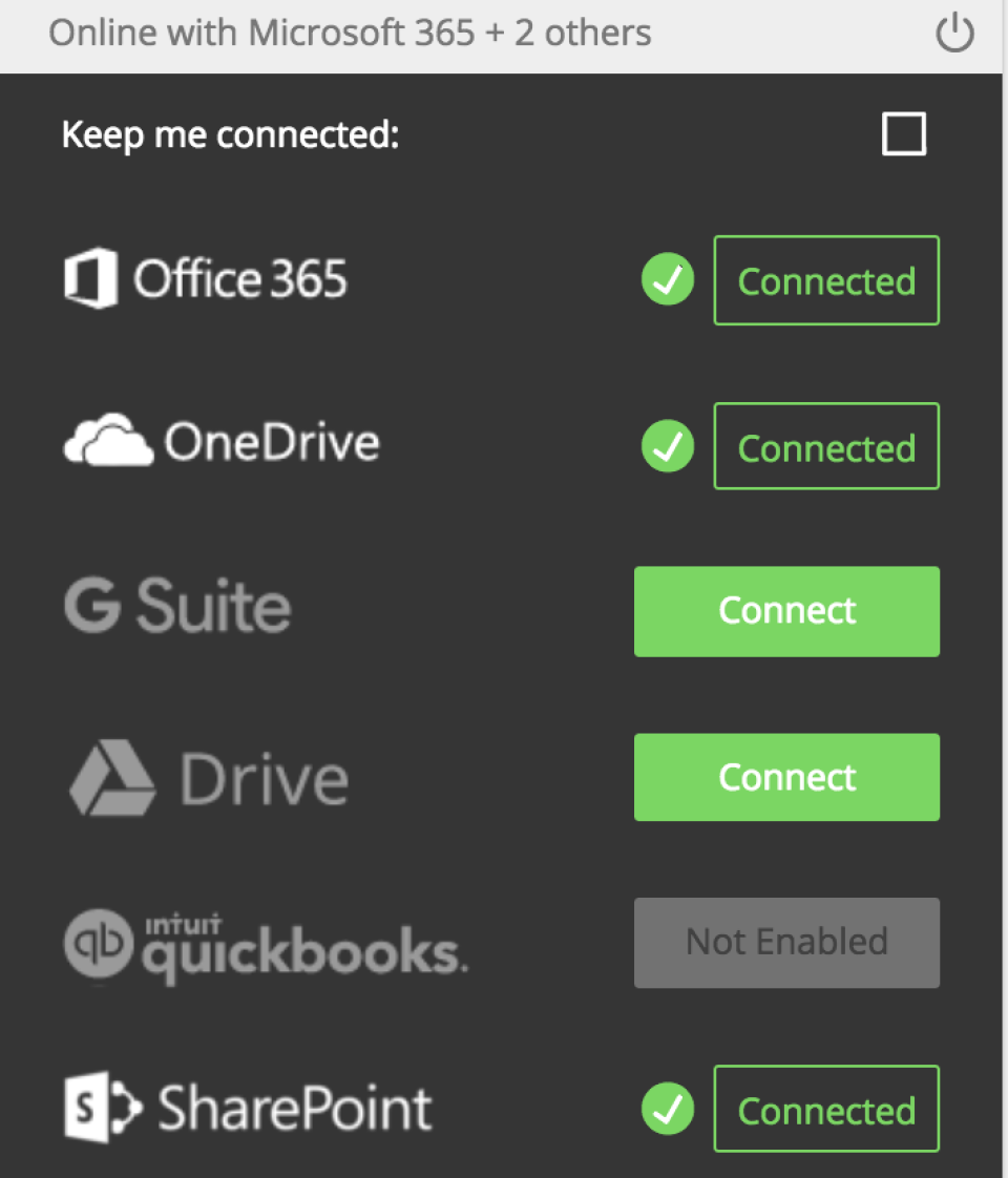 Connections with cloud storage solutions allows users to secure and share files