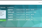 Betterez screenshot: Clients are able to view all of their upcoming bookings within the client portal