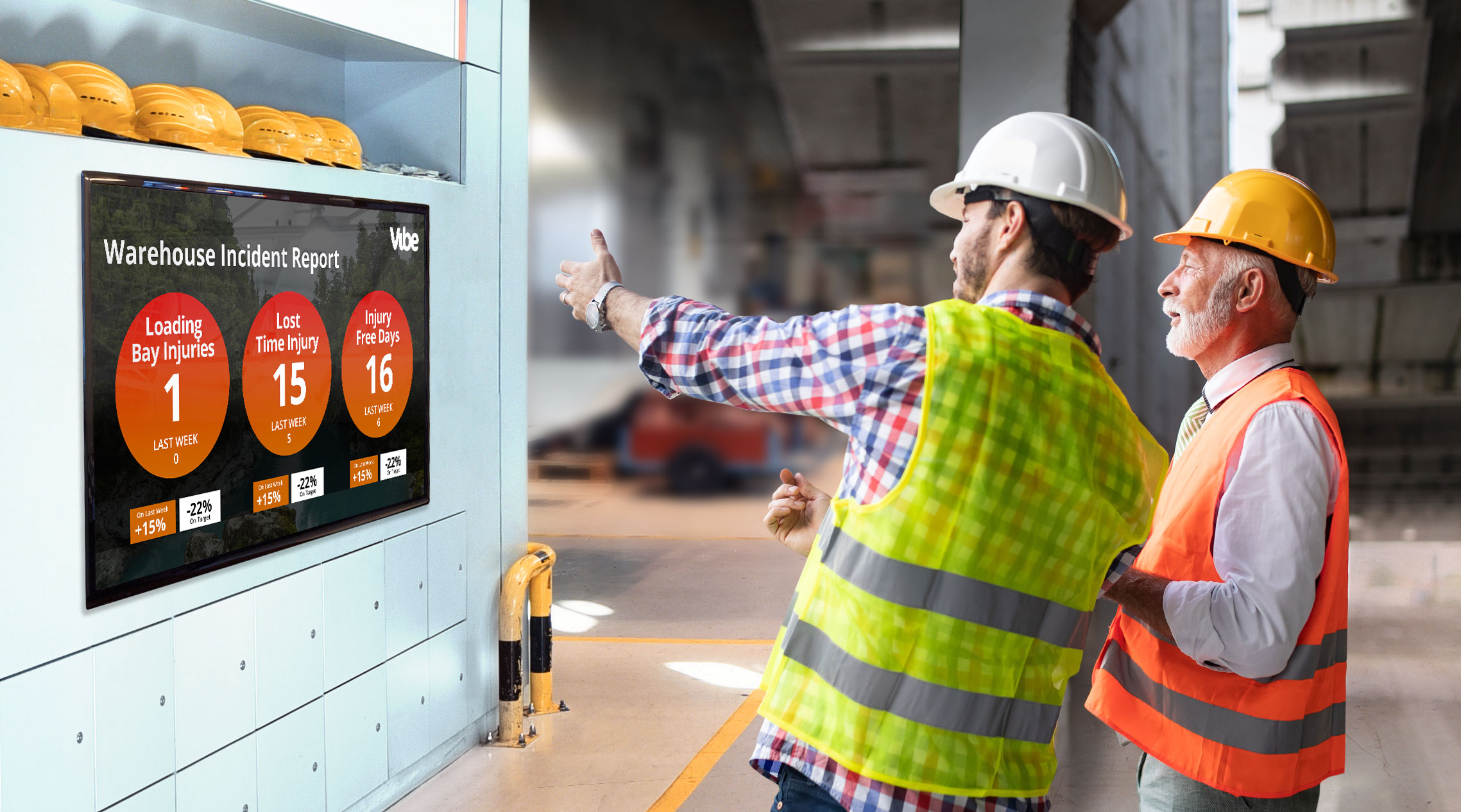 Large format digital screens bring workplace safety to life.
