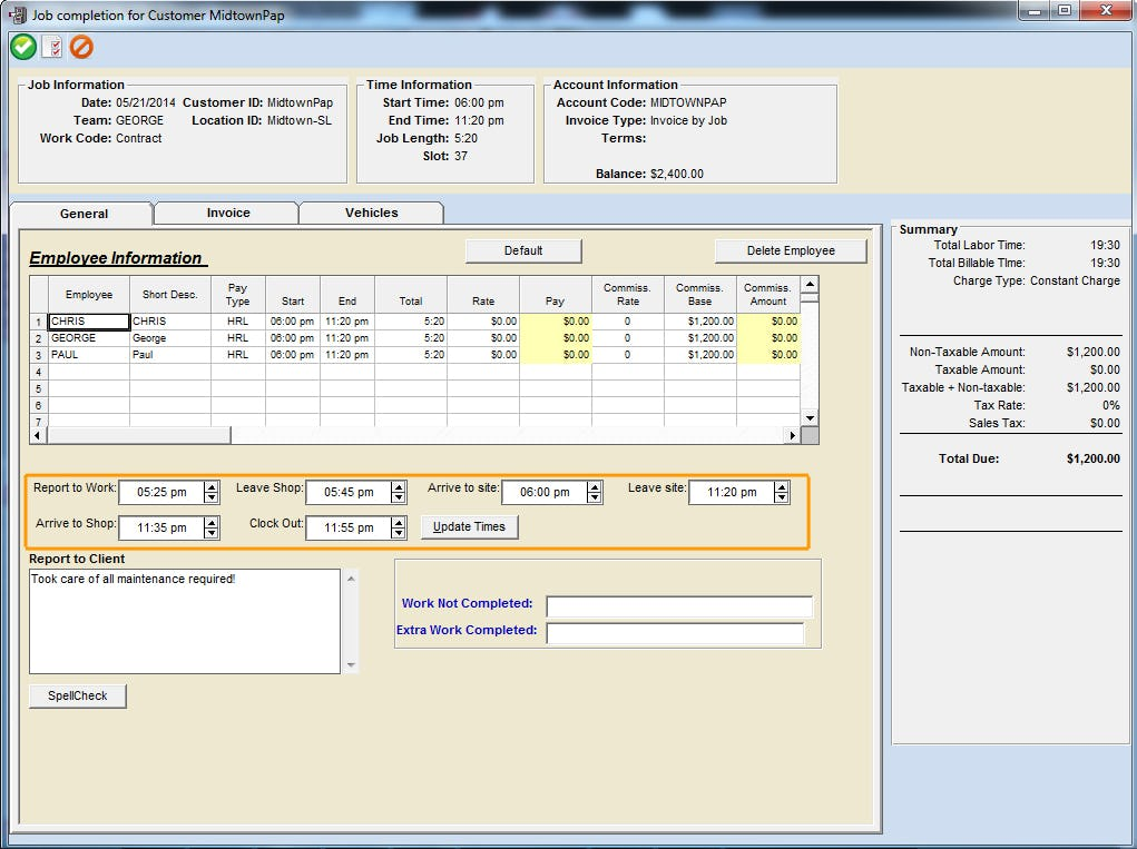 Scheduling Manager Software - Employee time tracking