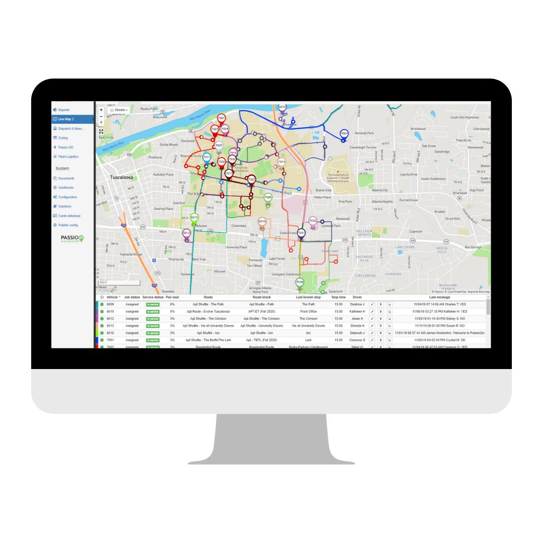Passio Live Dispatch Map