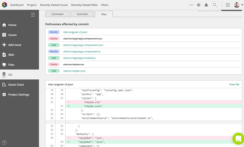Backlog Git integration