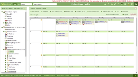 Manage visit scheduling in real-time using the visit calendar