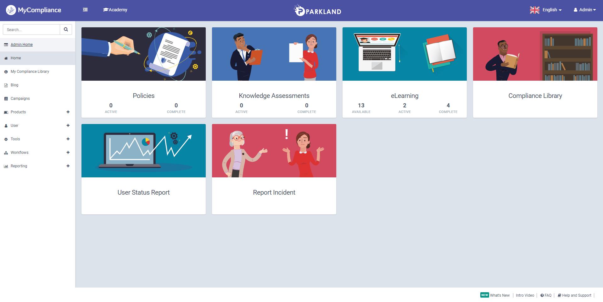 MyCompliance Homepage