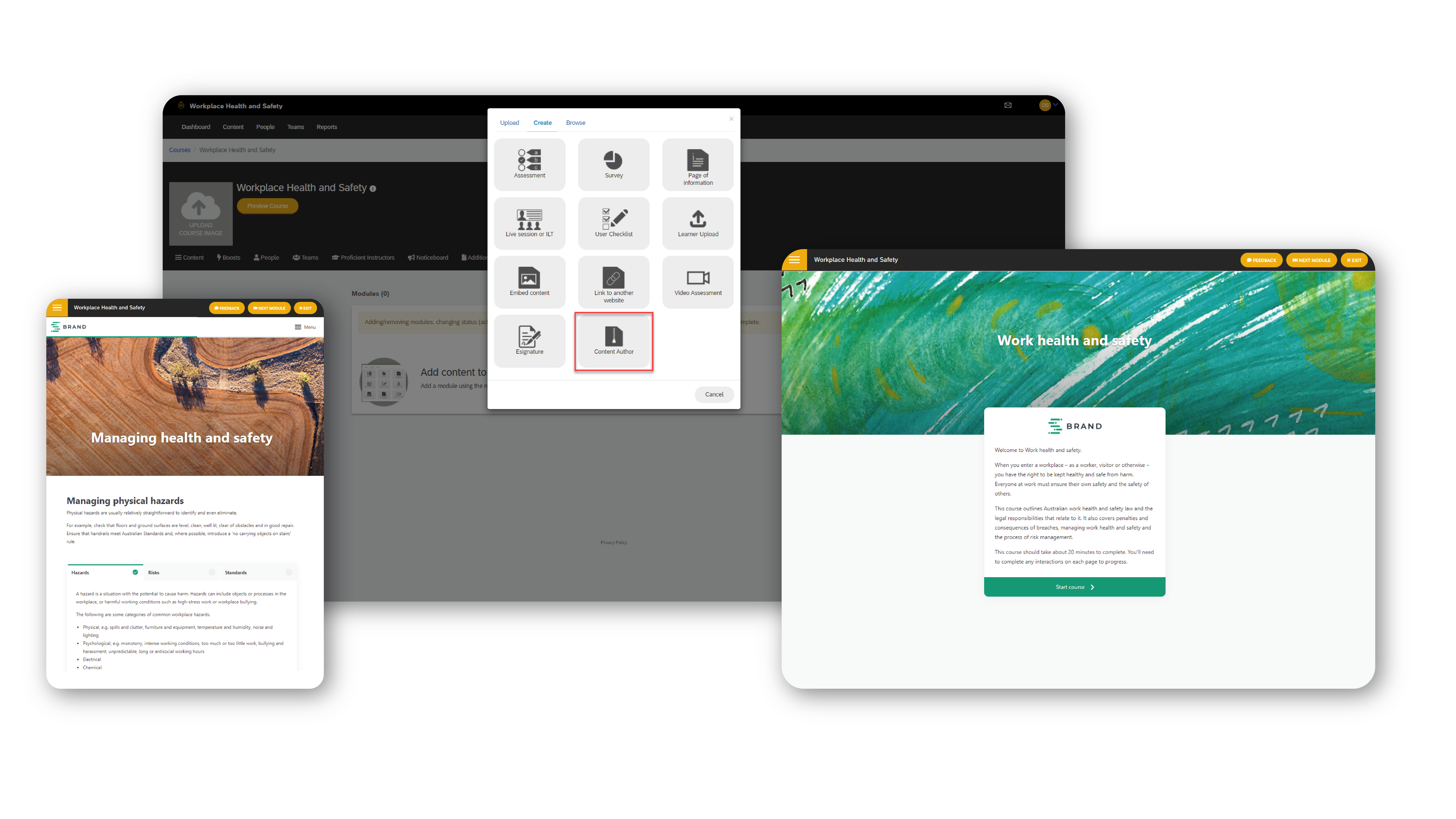eLearning Content Authoring Tool