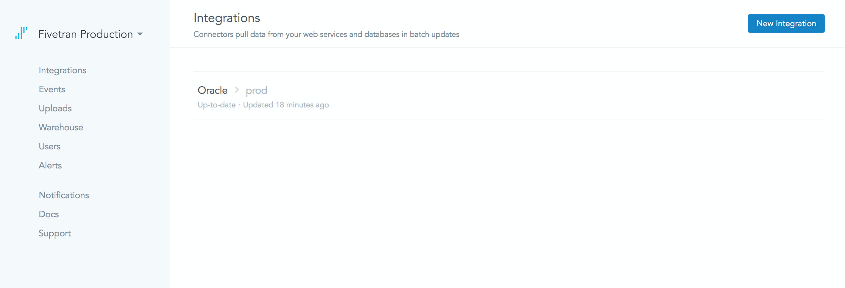 Users can integrate with Oracle