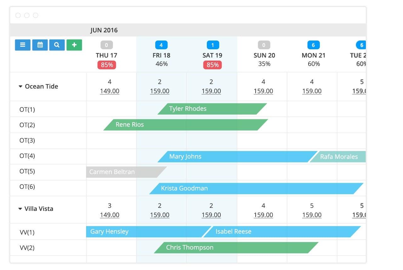 Cloudbeds Software - Calendar