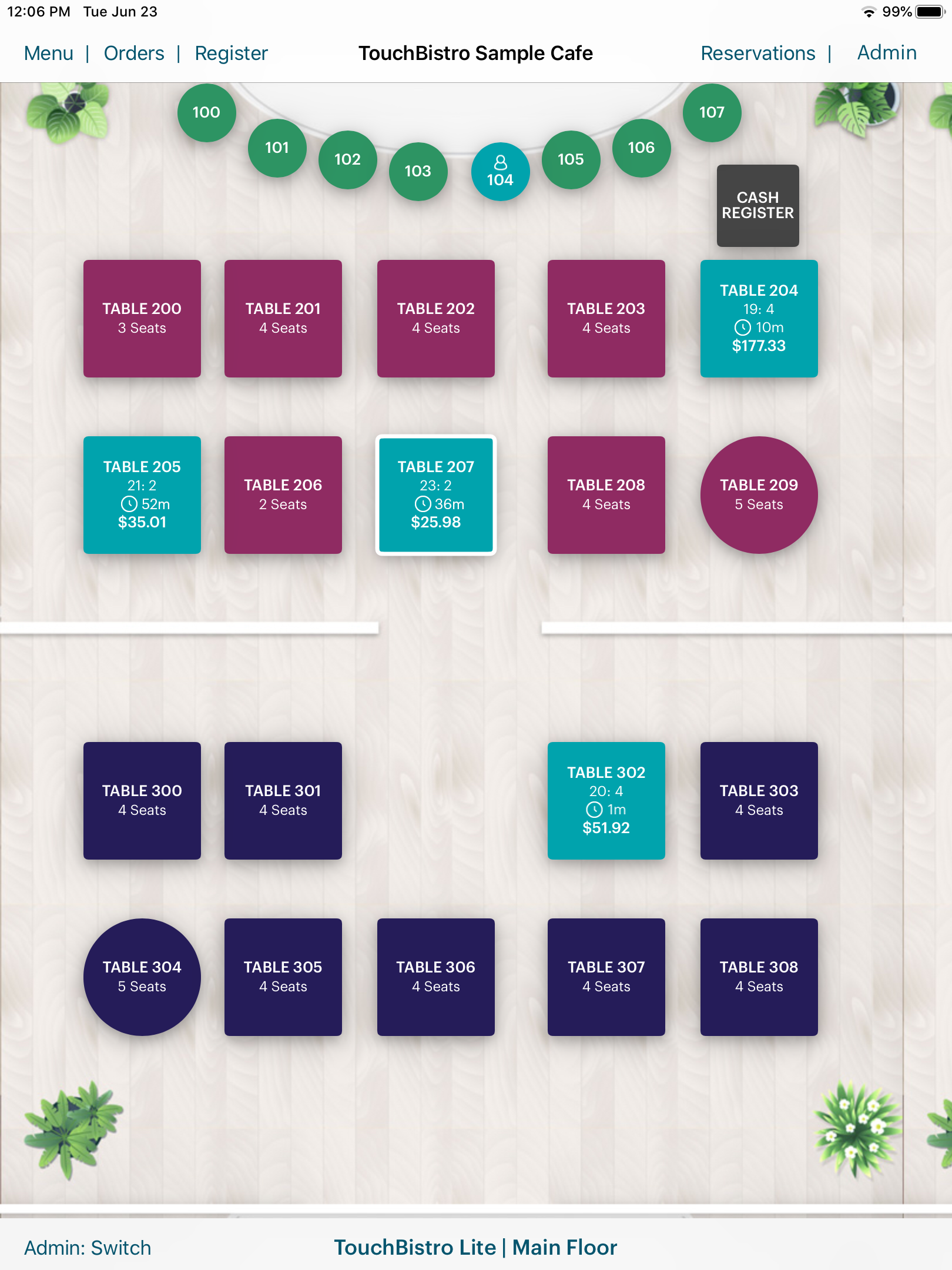 TouchBistro Software - TouchBistro Floor Plan