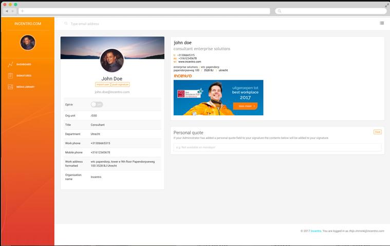 MailDoodler customizing signature