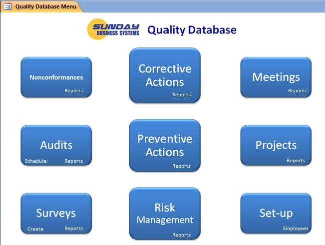 SBS Quality Database Logiciel - 2