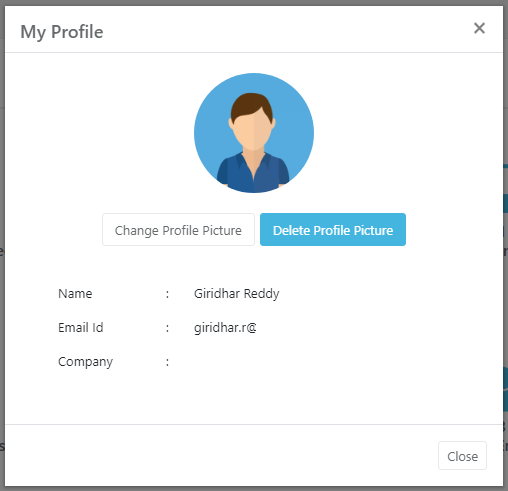 """""""My Profile"""" section where the employee can add the details including their profile image."""