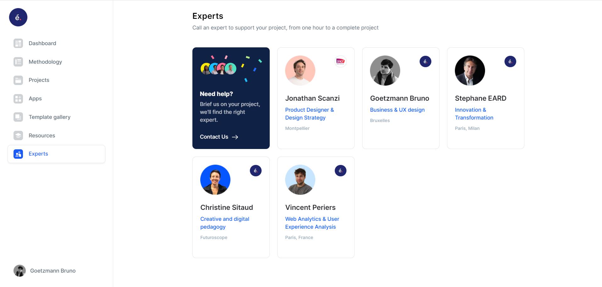 Internal expert network
