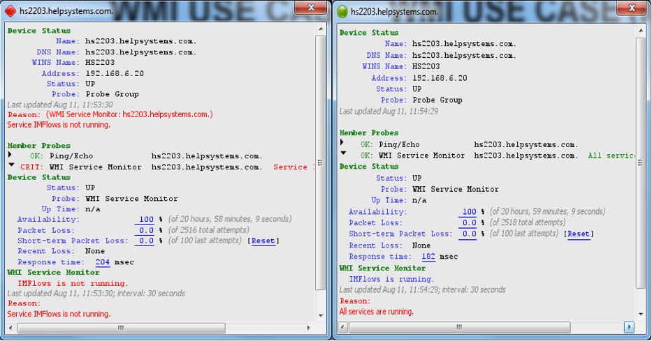 Intermapper device status