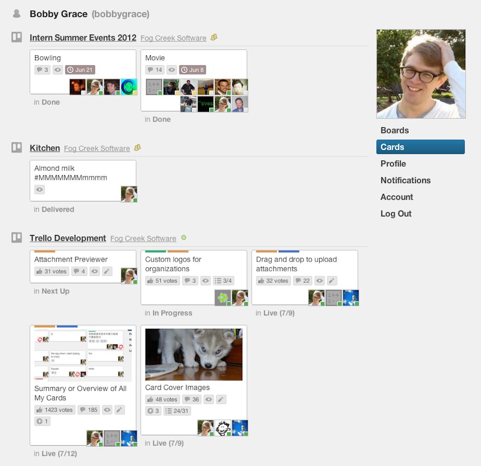 Trello Software - Trello individual view
