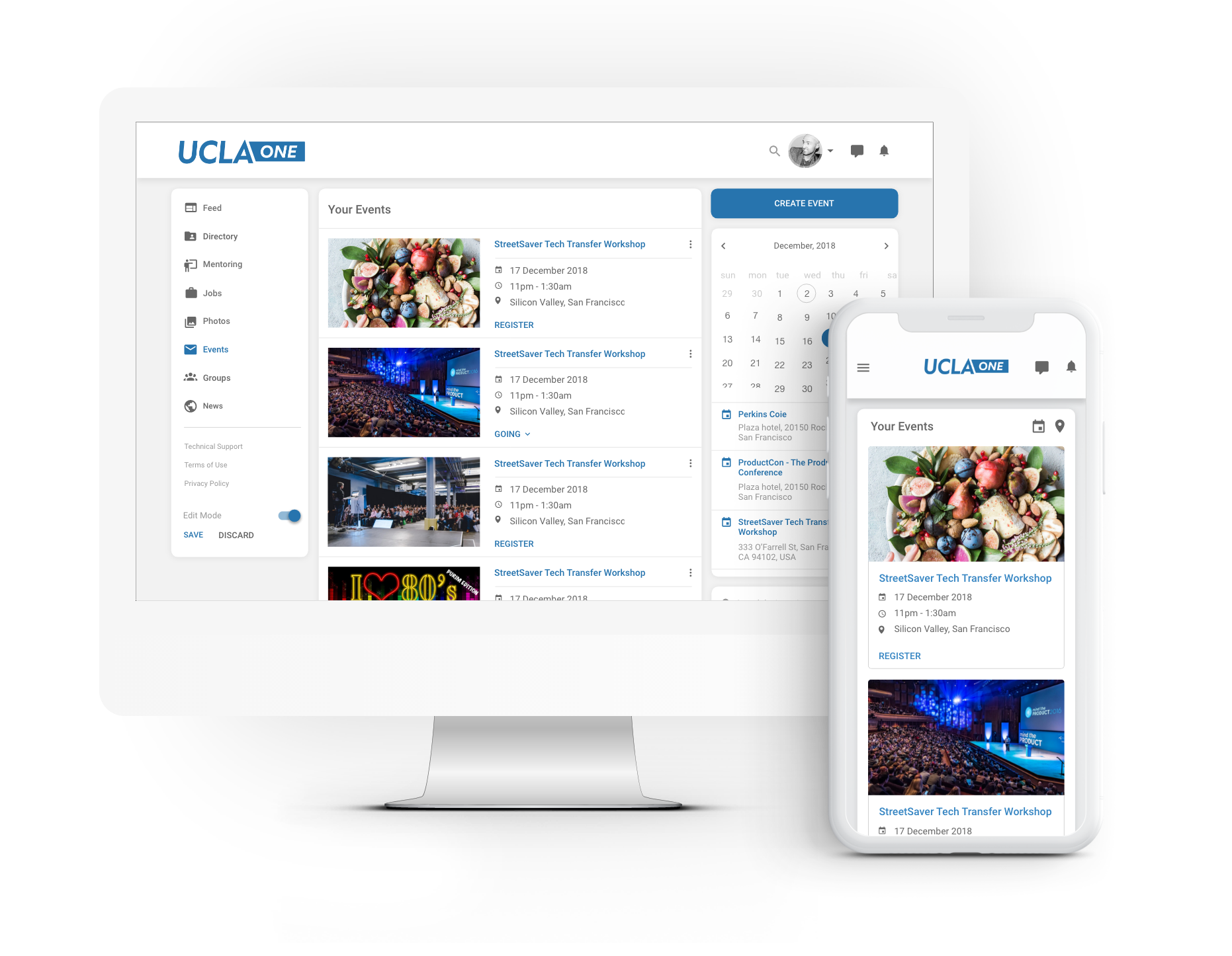 Fundraising event, annual gathering, networking luncheon - centralize all your event information in one, easy to access place. Our events module integrates with your 3rd party RSS feed to ensure your alumni don't miss a beat!