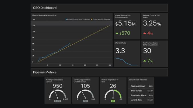 CEO dashboard example