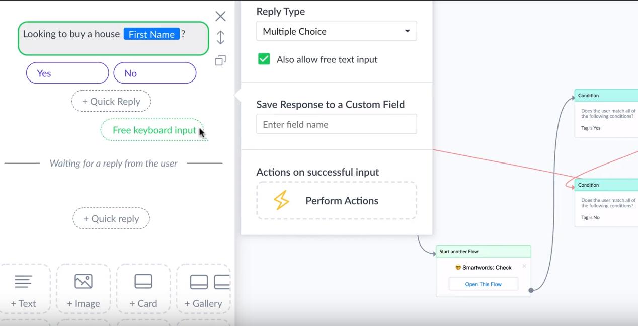 Janis screenshot: Janis response creation