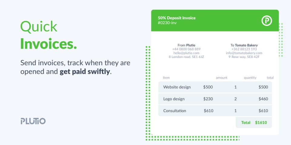 Plutio Software - Invoicing