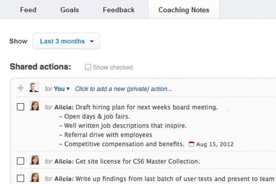 Salesforce Work.com Software - Coaching