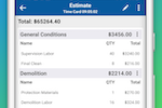 Contractor Foreman screenshot: Need to generate a bid or invoice in a hurry while in the field - not a problem!  It just takes a couple minutes to create a new one and get it submitted to your client.