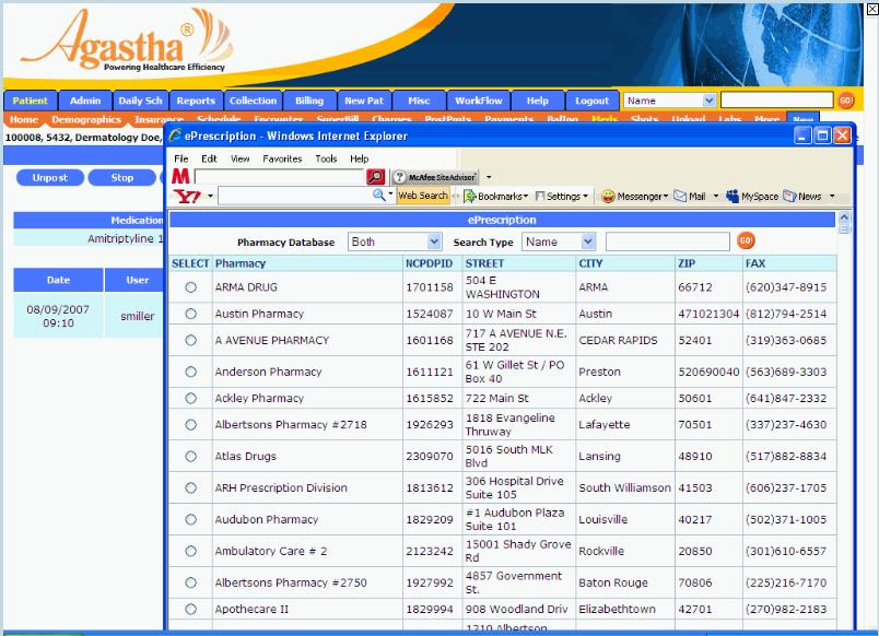 Agastha EHR Software - ePrescription