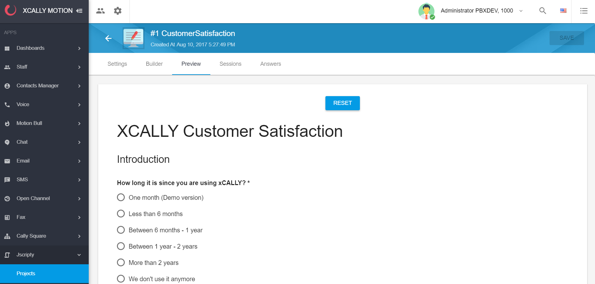 XCALLY Software - Customer Satisfaction