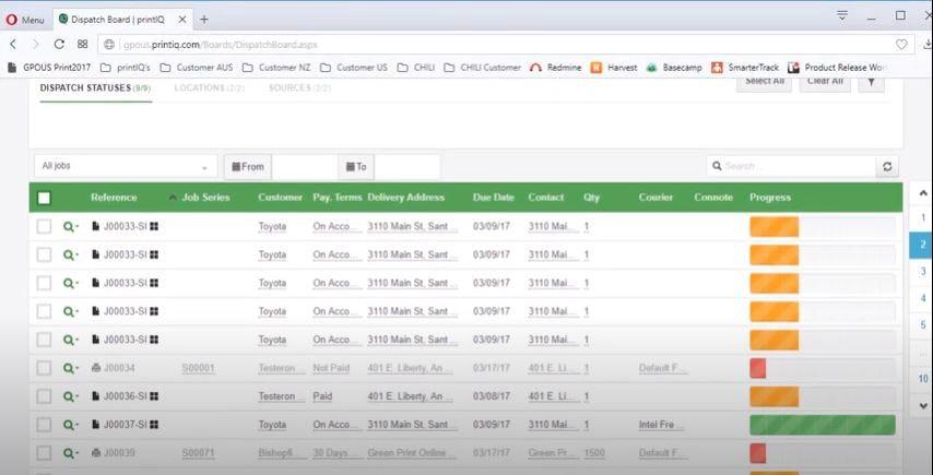 IQcore Software - IQcore dispatch monitoring